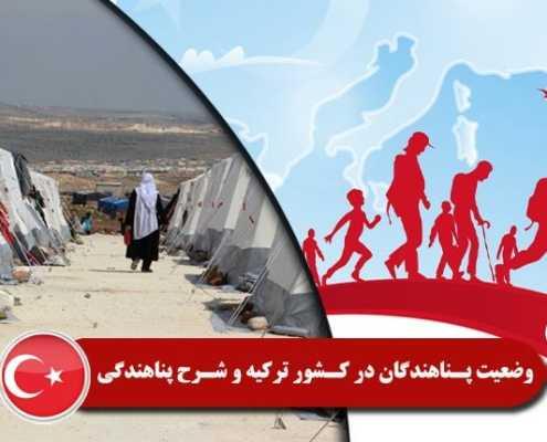وضعیت پناهندگان کشور ترکیه