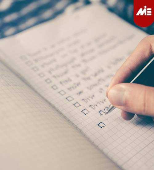 checklist تحصیل در انگلیس