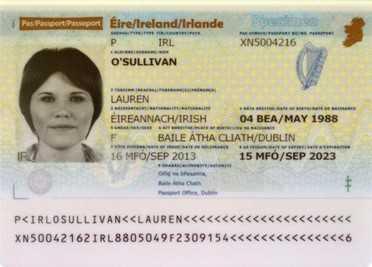 1 3 پاسپورت ایرلند