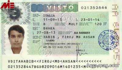ویزای ایتالیا ویزای توریستی ایتالیا