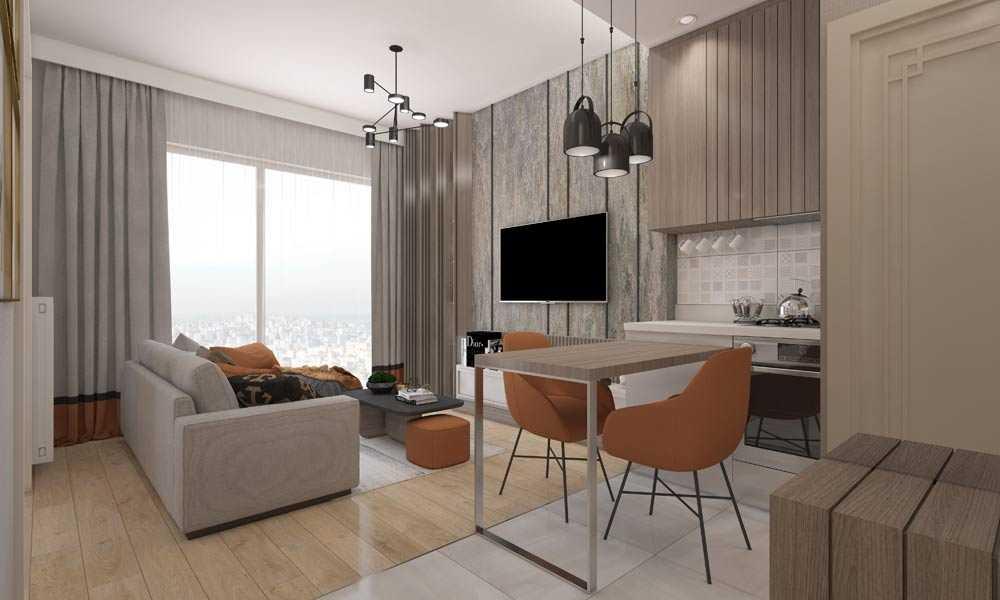 1 1 daire salon mutfak yatak odasi son 9 املاک ترکیه پروژه شماره 46