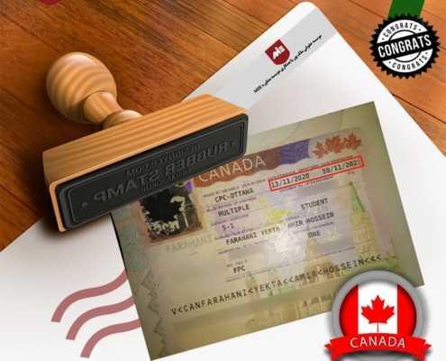 ویزای تحصیلی کانادا آقای فراهانی یکتا