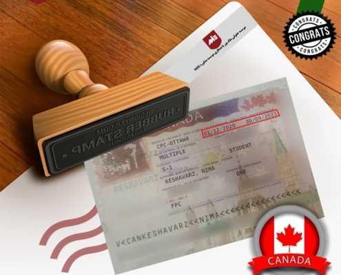 ویزای تحصیلی کانادا آقای کشاورز
