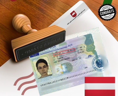 ویزای تحصیلی اتریش خانم نجفی