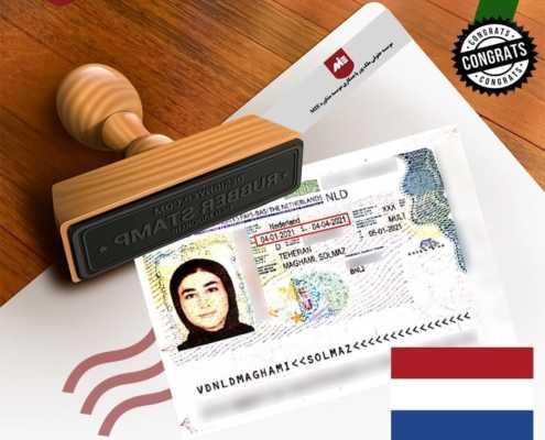 ویزای تحصیلی هلند خانم مقامی