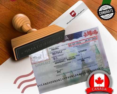 ویزای تحصیلی کانادا خانم قربانی