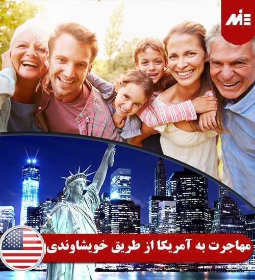 مهاجرت به آمریکا از طریق خویشاوندی اقامت در آمریکا