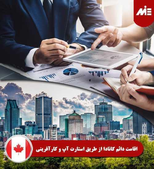 اقامت دائم کانادا از طریق استارت آپ و کارآفرینی Header مقایسه کارآفرینی و استارت آپ کانادا